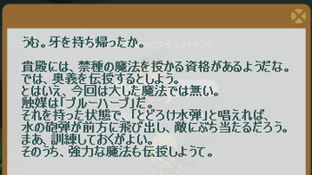 2012・10・07 マリスのクエスト 3-3 納品コメント ニーズヘッグの牙(奥義:とどろけ水弾.png